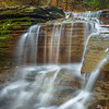 Cascading Steps Of Water Flow In Buttermilk State Park