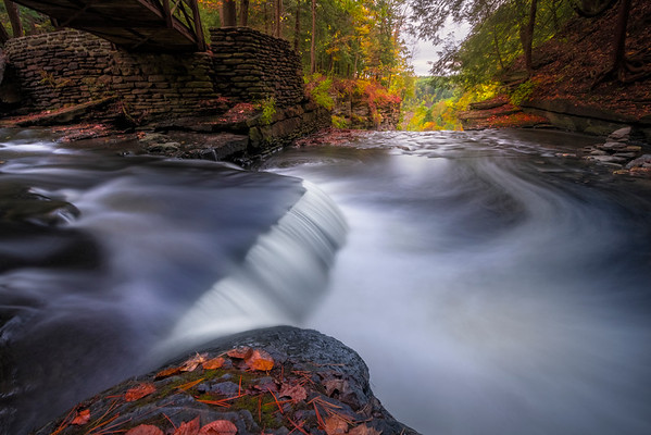 Under The Bridge Into Infinity - Letchfield State Park, Upstate New York, NY
