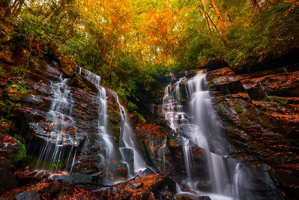 Soca Falls - Great Smoky Mountain Region, North Carolina