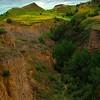 Deep Channel Valleys Of The Badlands - Theodore Roosevelt National Park, North Dakota