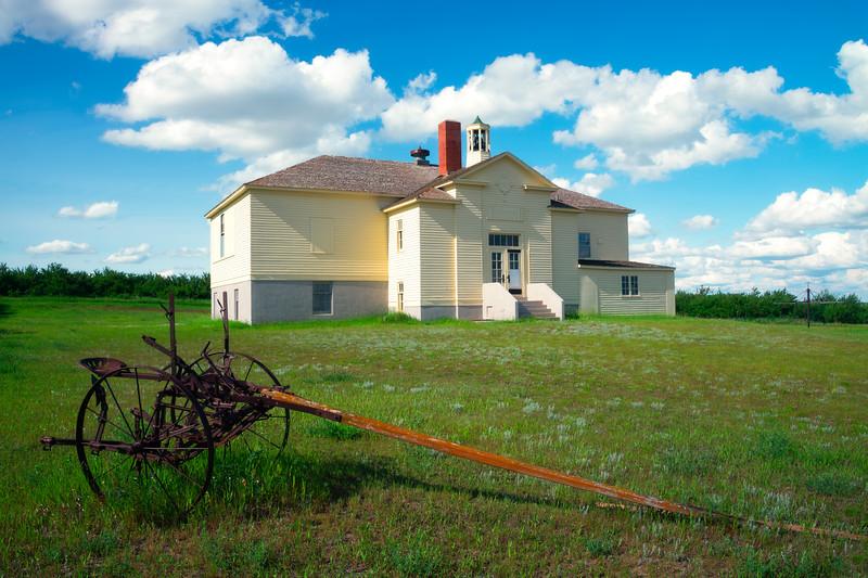 The Old Schoolhouse Of Alkabo -Alkabo Ghost Town, Little Missouri, North Dakota