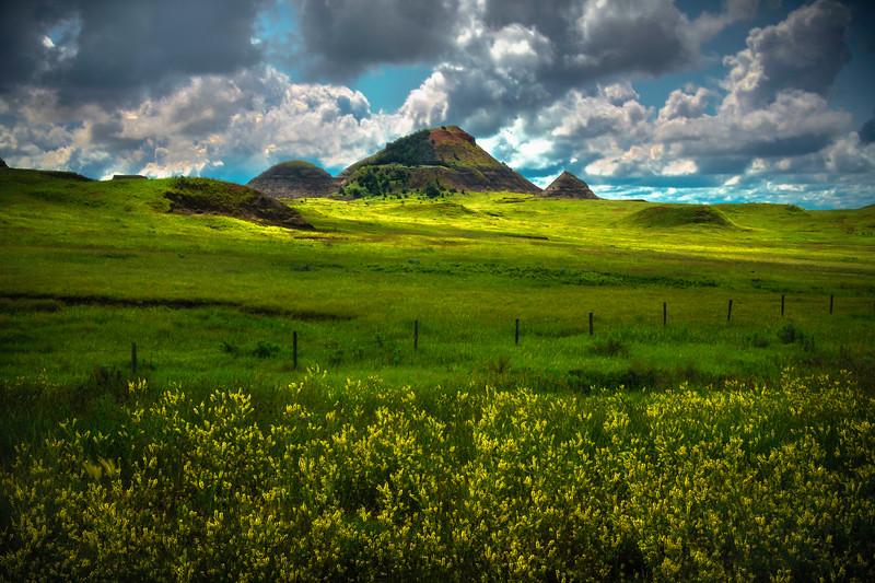 Golden Light In Distance - Sather Lake Recreation Area Little Missouri Grasslands, North Dakota