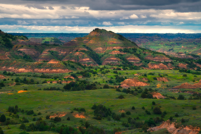 Nothing But Greens And Reds - Theodore Roosevelt National Park, North Dakota