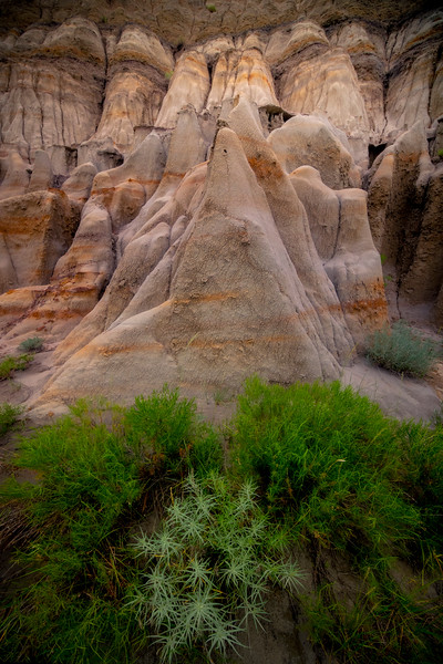 Pyramid Formed Hoodoos - Theodore Roosevelt National Park, North Dakota