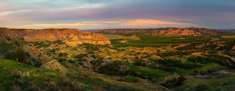 Pano Of Theodore Roosevelt Overlook - Theodore Roosevelt National Park, North Dakota