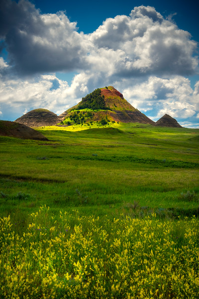 Pyramids Of Color - Sather Lake Recreation Area Little Missouri Grasslands, North Dakota