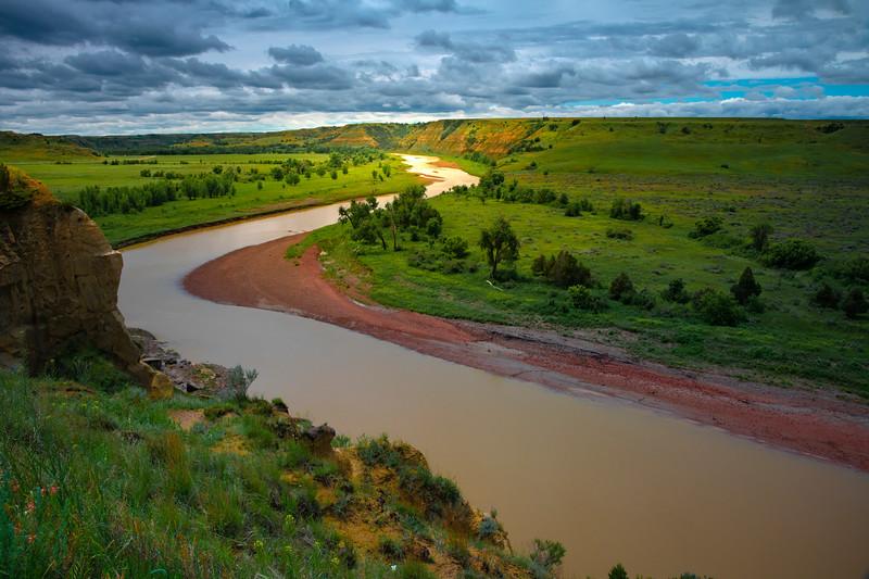 Alongside The Missouri River - Theodore Roosevelt National Park, North Dakota