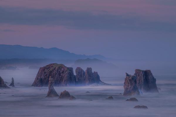 Fortress Of The Ocean - Bandon Beach, Oregon Coast