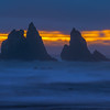 A Moment Of Light Way After Sunset - Bandon Beach, Southern Oregon Coast, OR