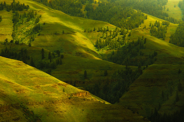 Layers Of Color And Light In The Canyon Wallowa County, Oregon