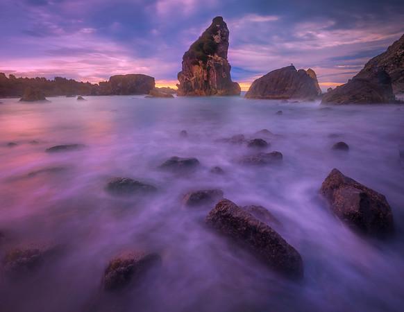 Long Exposure Sunrise - Harris Beach, Southern Oregon Coast, Oregon
