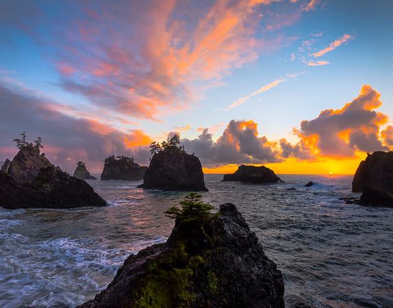 The Fortress Of Haystacks -Secret Beach, Southern Oregon Coast, Oregon