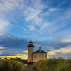 Coquille Lighthouse In Early Light - Coquille Lighthouse, Bandon, Southern Oregon Coast, OR
