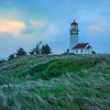 A Glimmer Of Pink Over Cape Blanco Lighthouse - Cape Blanco Lighthouse, Southern Oregon Coast, OR