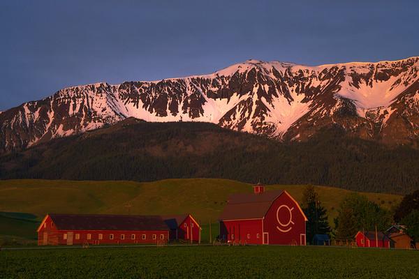 First Light On The Peaks Wallowa County, Oregon
