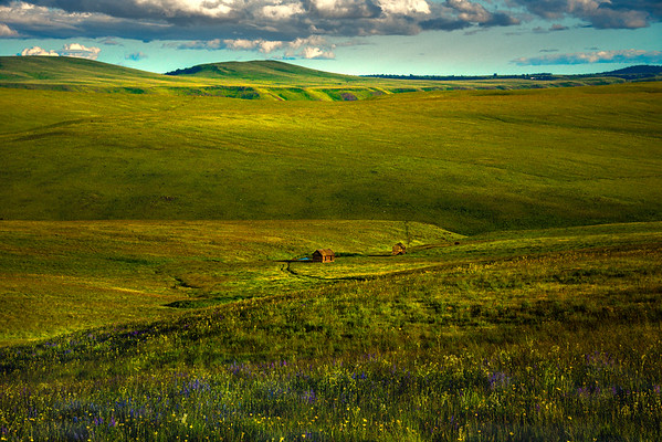 The Remaining Homesteads At The Bottom Of The Valley Wallowa County, Oregon