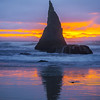 Sunset Ripple Moments At Bandon - Bandon Beach, Southern Oregon Coast, OR