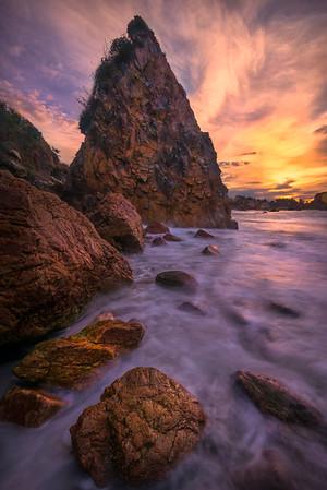 Converging Rocks And Haystack - Harris Beach, Southern Oregon Coast, Oregon