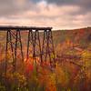 The Kinzua Bridge Amongst The Autumn Allegeny Mountains Kinzua Railroad Bridge, Pennsylvania