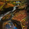 Eddy Pools Beneath The Bridge- Ricketts Glen State Park, Benton,  Pennsylvania