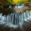 Overflow Reflections Of Cascde Fall Light-Ricketts Glen State Park, Pennsylvania