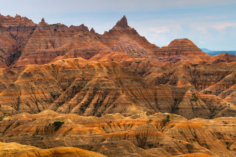 Leading All Up To The Top Peak - Badlands National Park, South Dakota