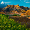 Dappled Light On The Throne - Badlands National Park, South Dakota