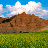 Valley Of Yellow Below The Badlands - Badlands National Park, South Dakota