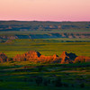 Scattered Morning Light Across Valley - Badlands National Park, South Dakota