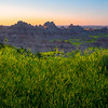 Morning First Light On The Badland Peaks - Badlands National Park, South Dakota