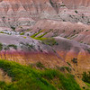 Abstract Color Patterns Of The Badlands - Badlands National Park, South Dakota