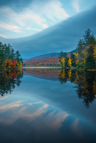 Misty Evening Over Lefferts Pond - Vermont