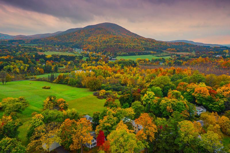 Overlooking The Valley Area Of Bennington - Vermont