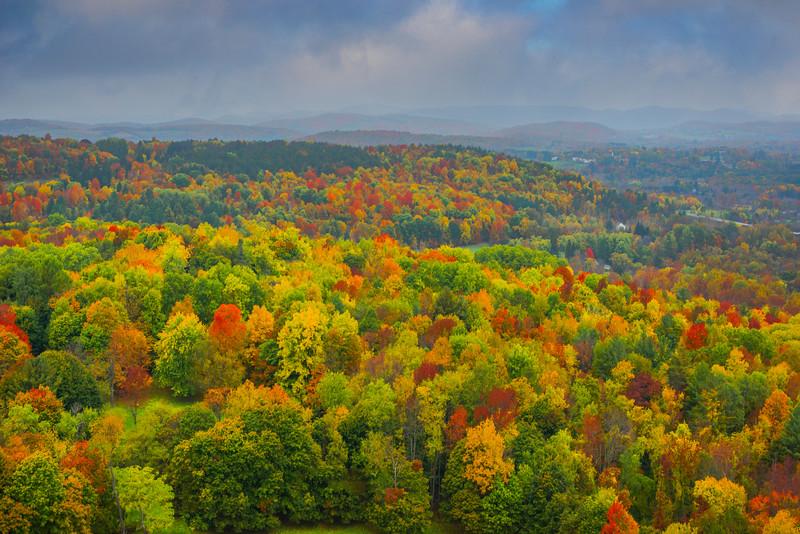 Overlooking The Surrounding Areas Of Bennington - Vermont