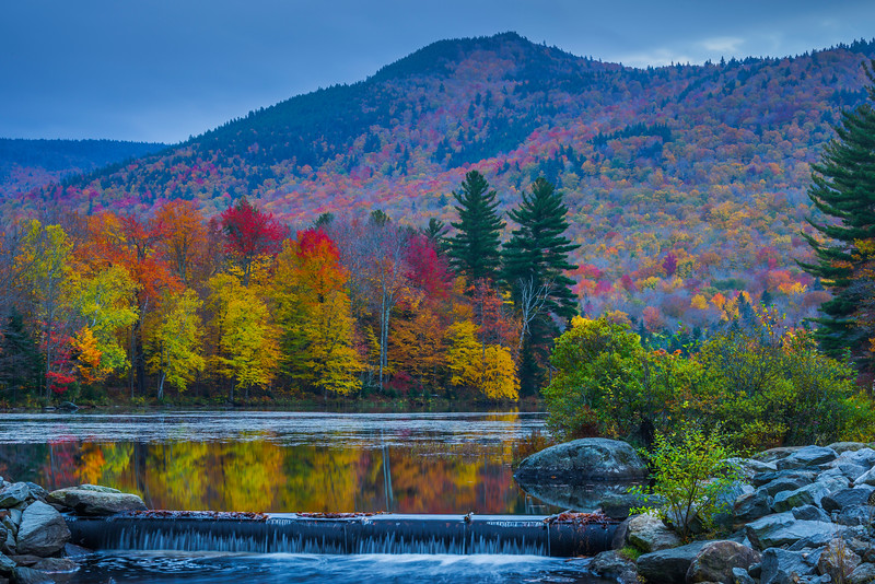Cascade Falls At The Reservoir - Vermont