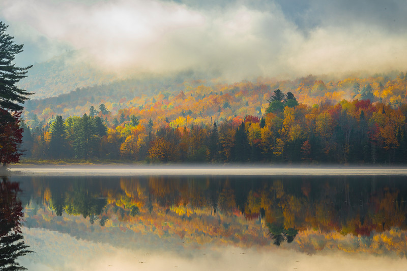 Color Appears As Mist Rises - Vermont