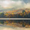 Color Appears As Mist Rises - Vermont