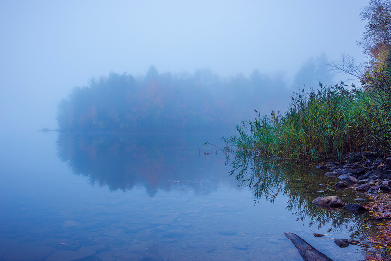 Early Morning Fog Obscures Color Island