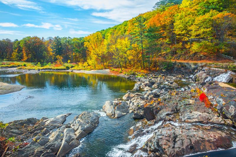 The Local Autumn Scene Down At The Falls