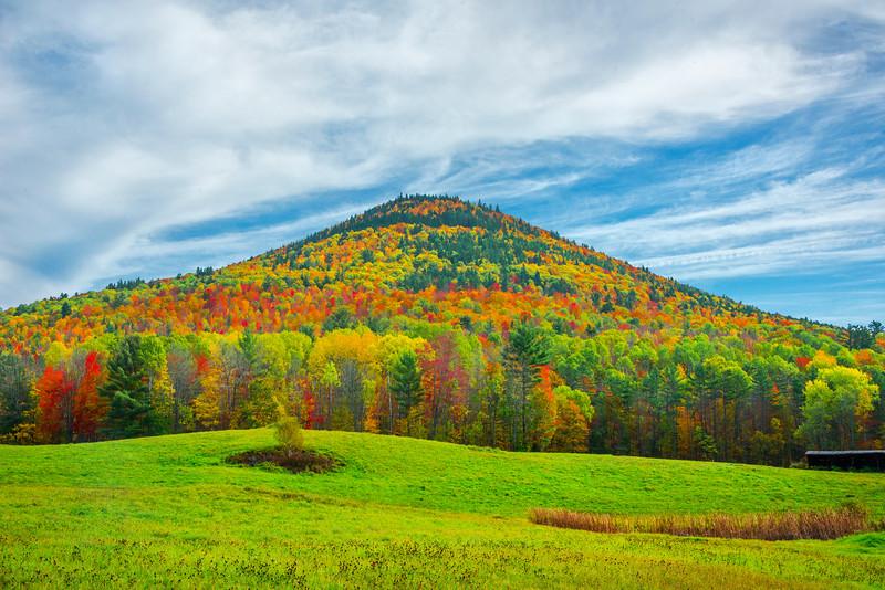 At The Peak Of Autumn In Rural Vermont