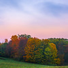 Early Morning Color Above The Forest Line - Vermont