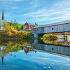 The Covered Bridge In The Town Of Bath - Vermont