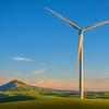 The Blowing Wind Turbine And Steptoe -The Palouse, Eastern Washington