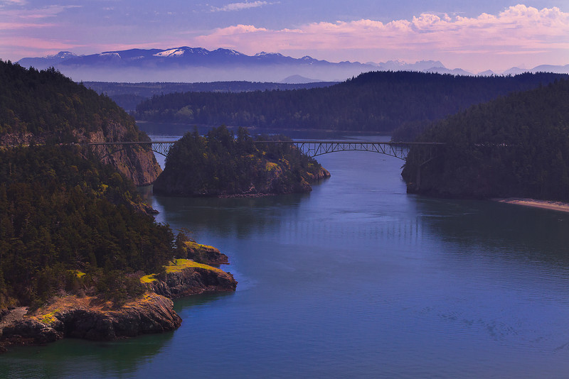 Aerial Views Of Deception Pass and La Conner, WA