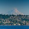 Mount Rainier Showing Itself On A Summer Afternoon - Seattle Waterfront - Seattle, WA