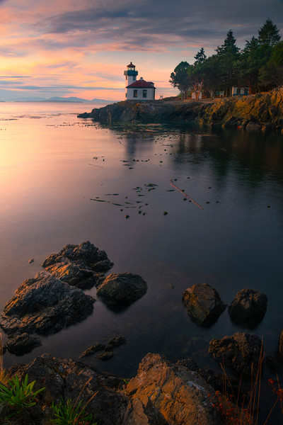 Last Light Bounces Off Foreground Rocks