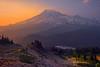 Mt Rainier From Pinnacle Peak Saddle Pinnacle Peak Area, Mount Rainier National Park, WA