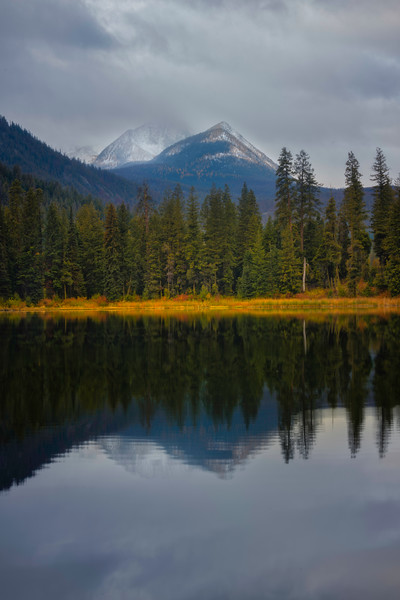 Peak Reflections From Blackpine Lake Campground - Methow Valley, Washington State