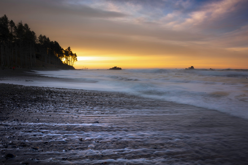 Morning Burst On Ruby Beach