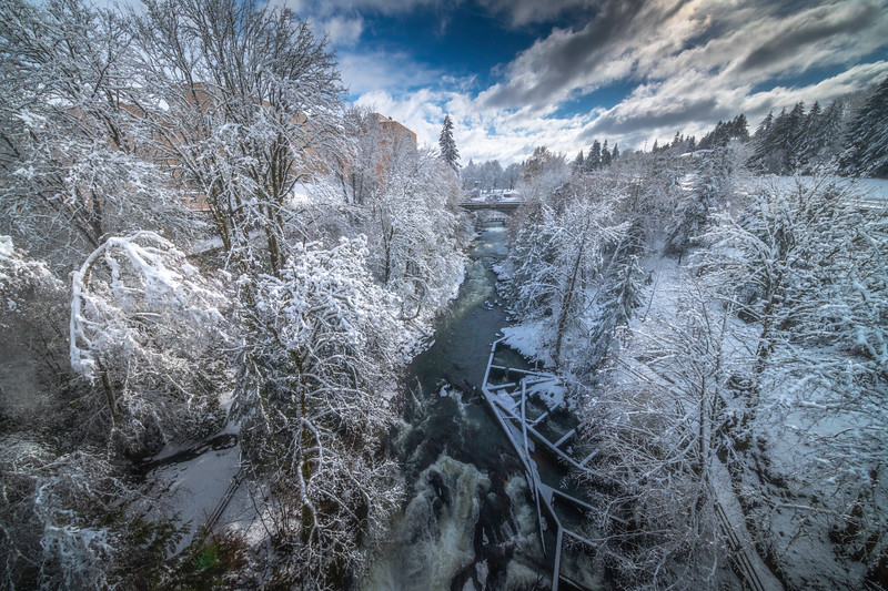 Tumwater Fallls In The Snow